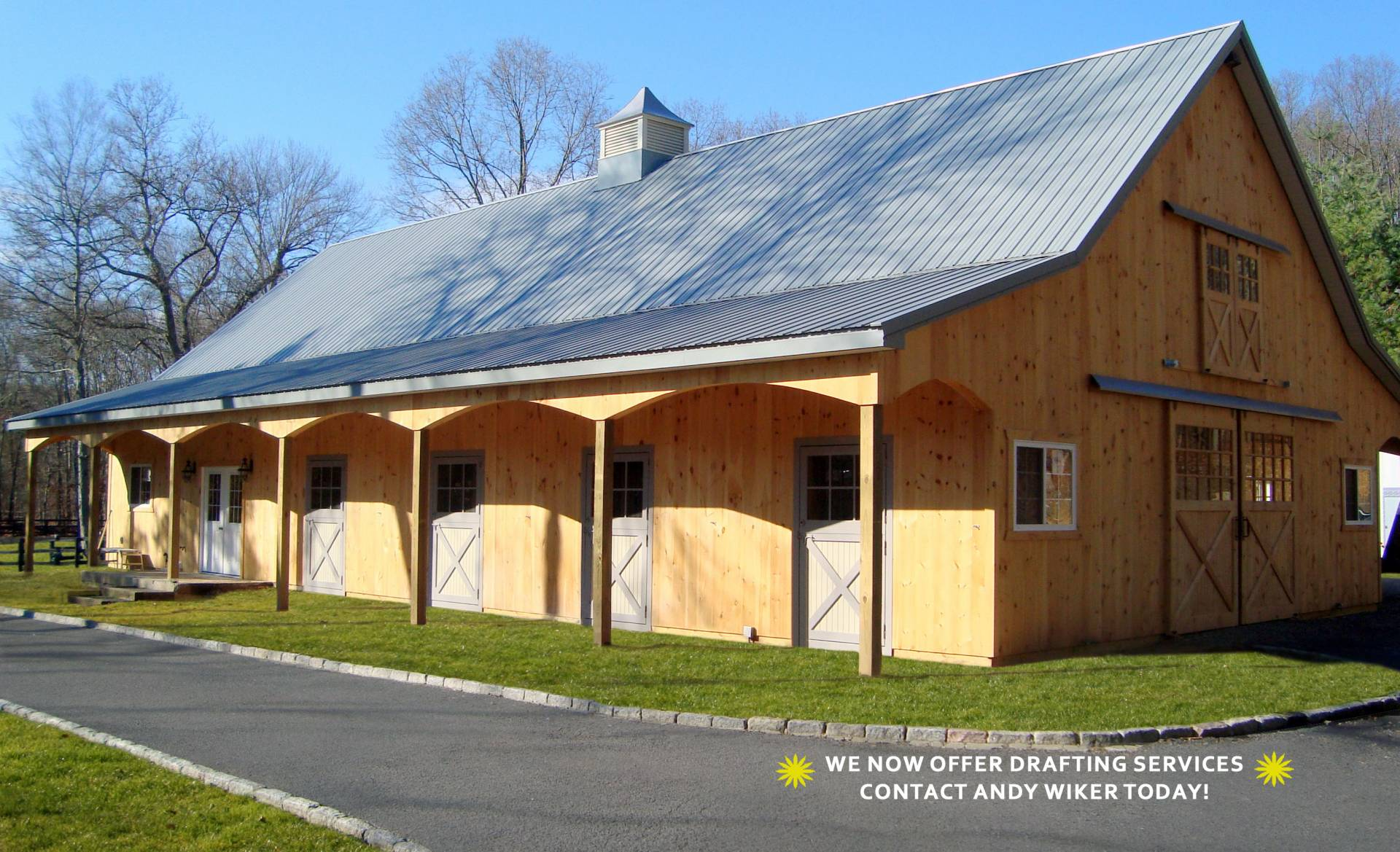 Horse barn building kits new holland supply for Horse barn materials