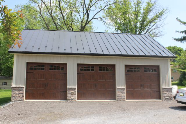 Beautiful Wooden Door Garage