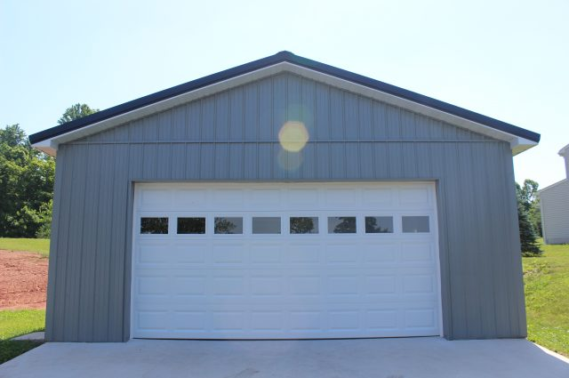 Blue & White Garage