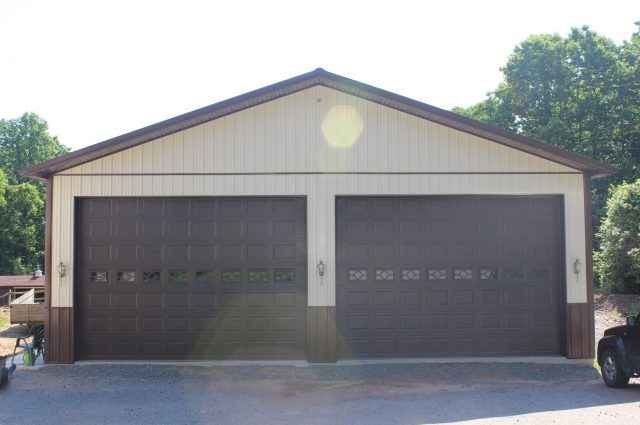 Brown Trim Garage