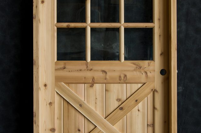 Custom Door in Wooden Frame
