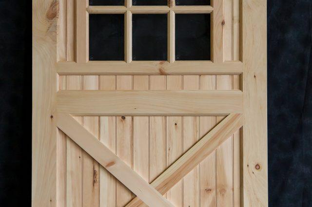 Custom Wooden Door and Rollers