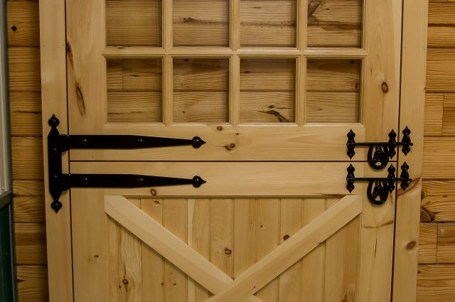 Custom Wooden Two Part Door