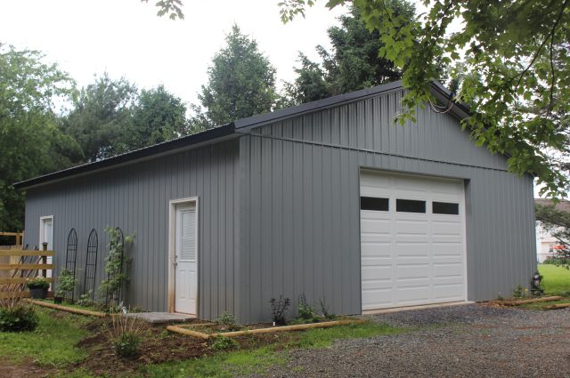 Dark Gray and Black Barn