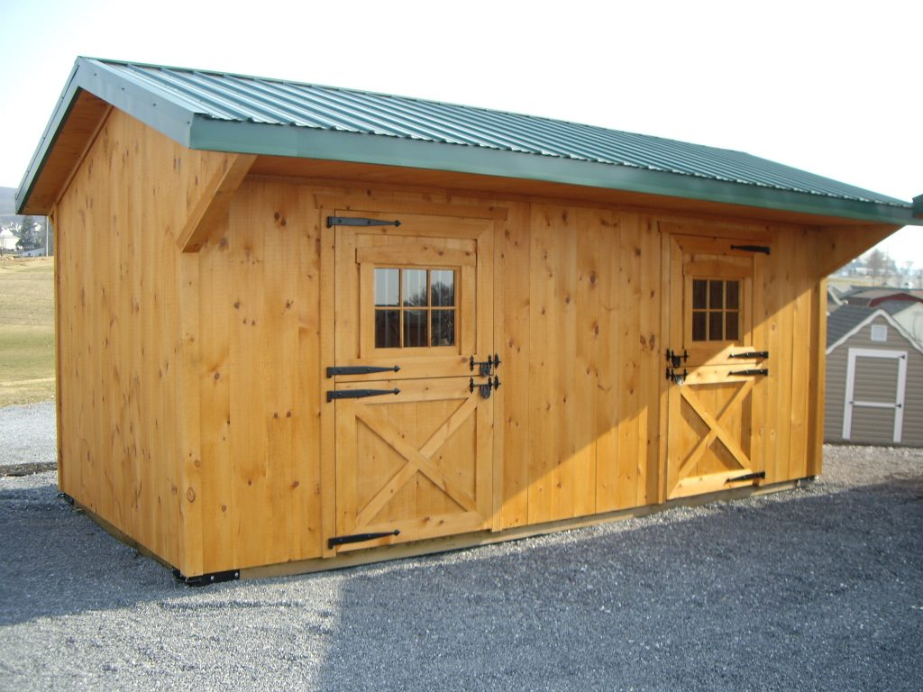 Run in sheds lancaster pa horse run in shed pa nj for 2 stall horse barn kits