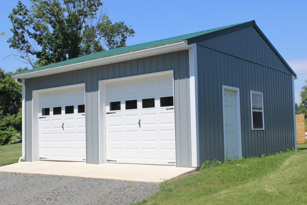 Gray Pole Garage by New Holland Supply