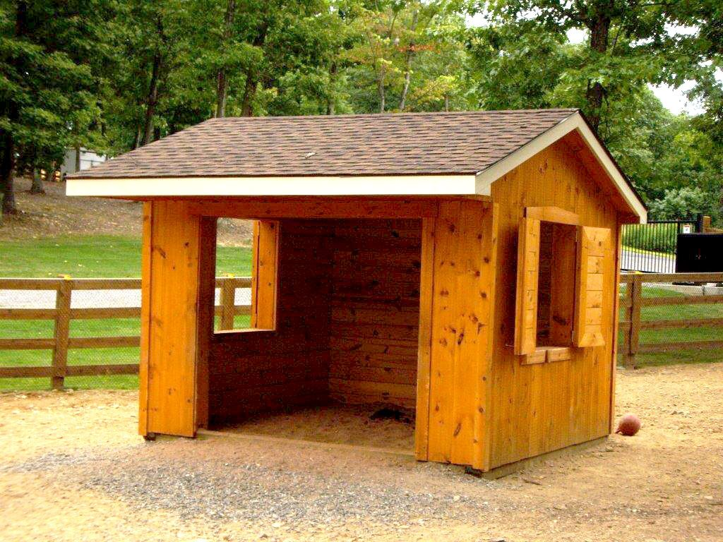 shed or watch building on horse youtube shelter kits barn skids run lean in sheds