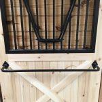 horse stall grill blanket rack