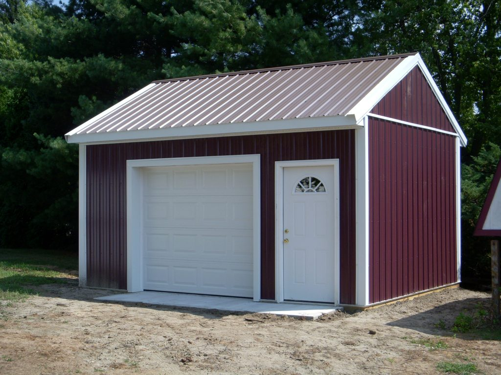 Maroon Shed by New Holland Supply