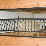prefab horse stall with hay rack insert