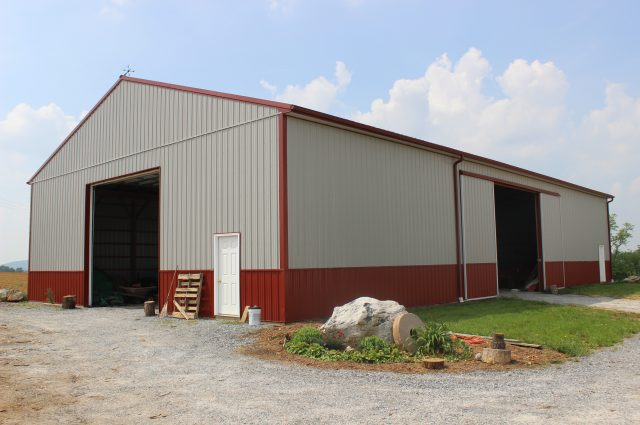 Red Trim Pole Barn