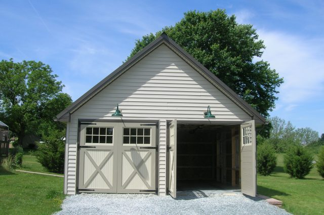 Tan Double Garage Doors