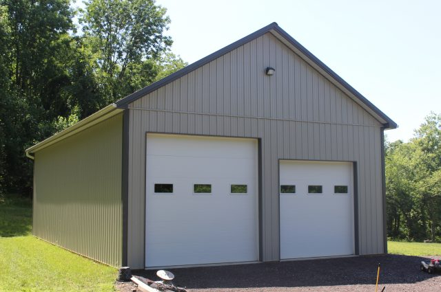 Two Door Pole Barn Garage