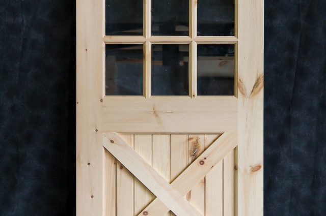 Wooden Door Frame With Panels