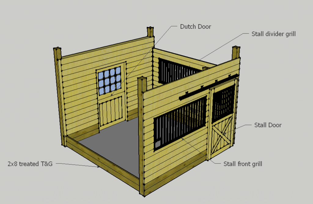 Standard Horse Stall Layout
