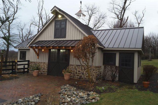 Pole Barn with a cupola