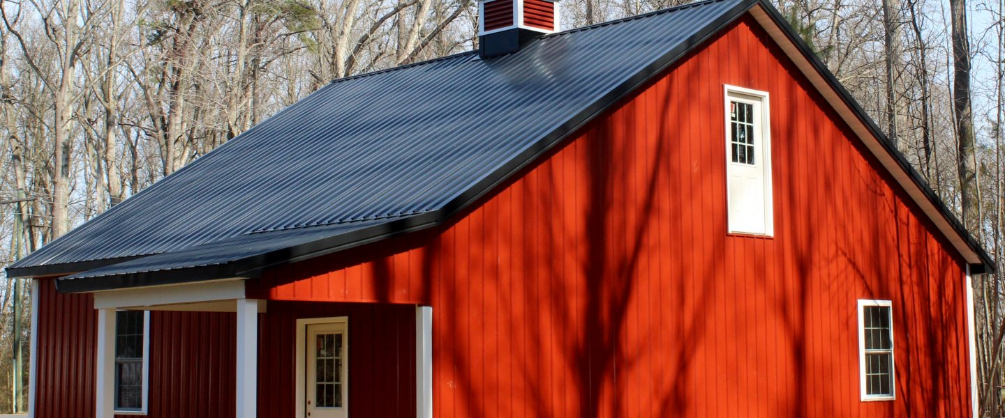 Red Pole Barn Garage