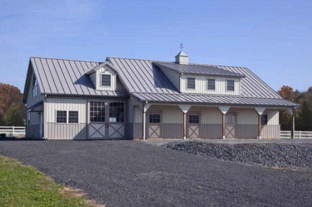 budget pole barns with wainscoting