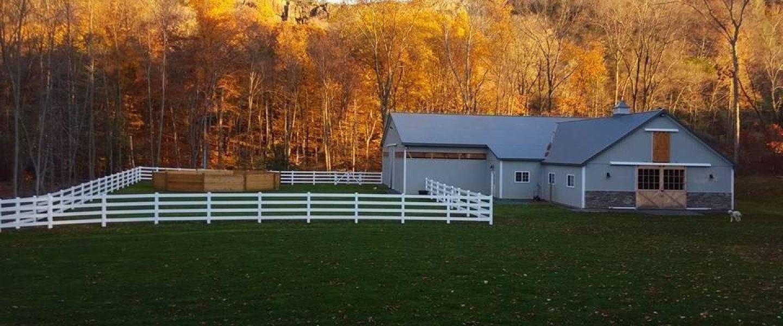 Beautiful horse barn custom made