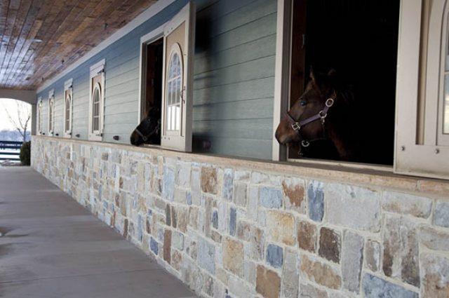Dream horse barn with stone