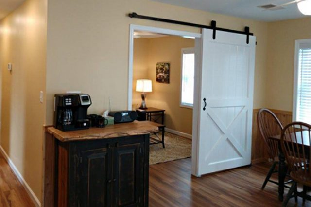 Interior sliding barn door idea