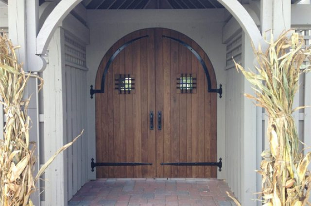 Rounded top barn door idea for exterior