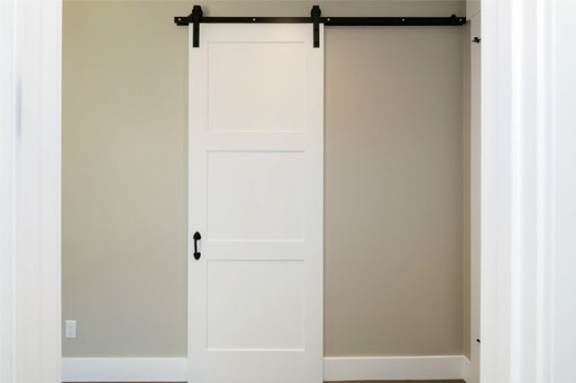 Unique barn door pattern interior