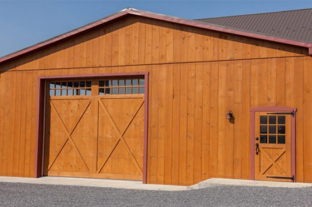 Barn door designed for exterior