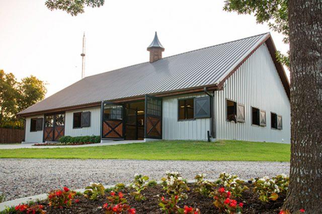 Beautiful horse barn upgrades of custom door