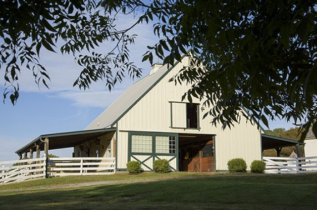 Elegant horse barn in the country