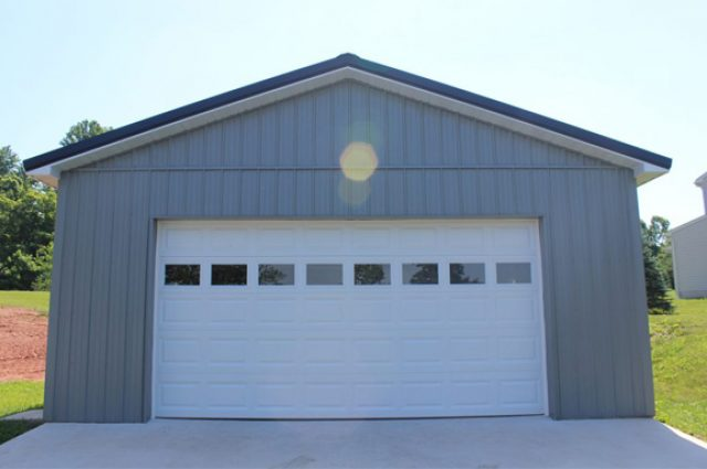 Small residential pole barn garage