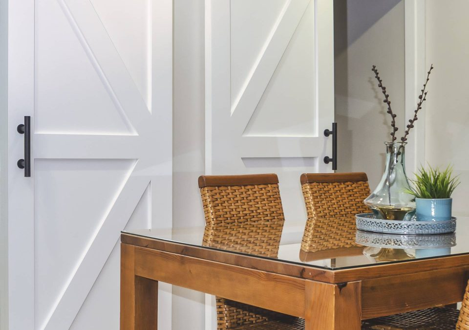 Decorating with Barn Doors in dining room